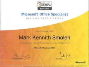 MICROSOFT OFFICE WORD SPECIALIST